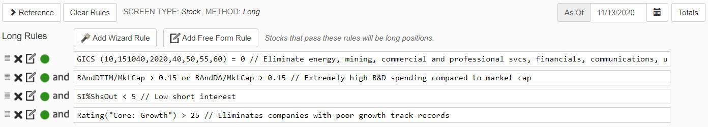 portfolio123 nuevas reglas